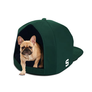 Michigan State University Nap Cap Plush Dog Bed