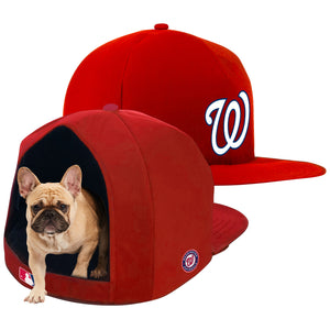 Washington Nationals Nap Cap Plush Dog Bed