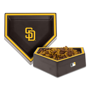 San Diego Padres Home Plate Dog Bowl