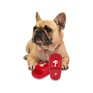 MLB CHEW TOY-PHILLIES-MUTT SLIDE- RED/WHITE