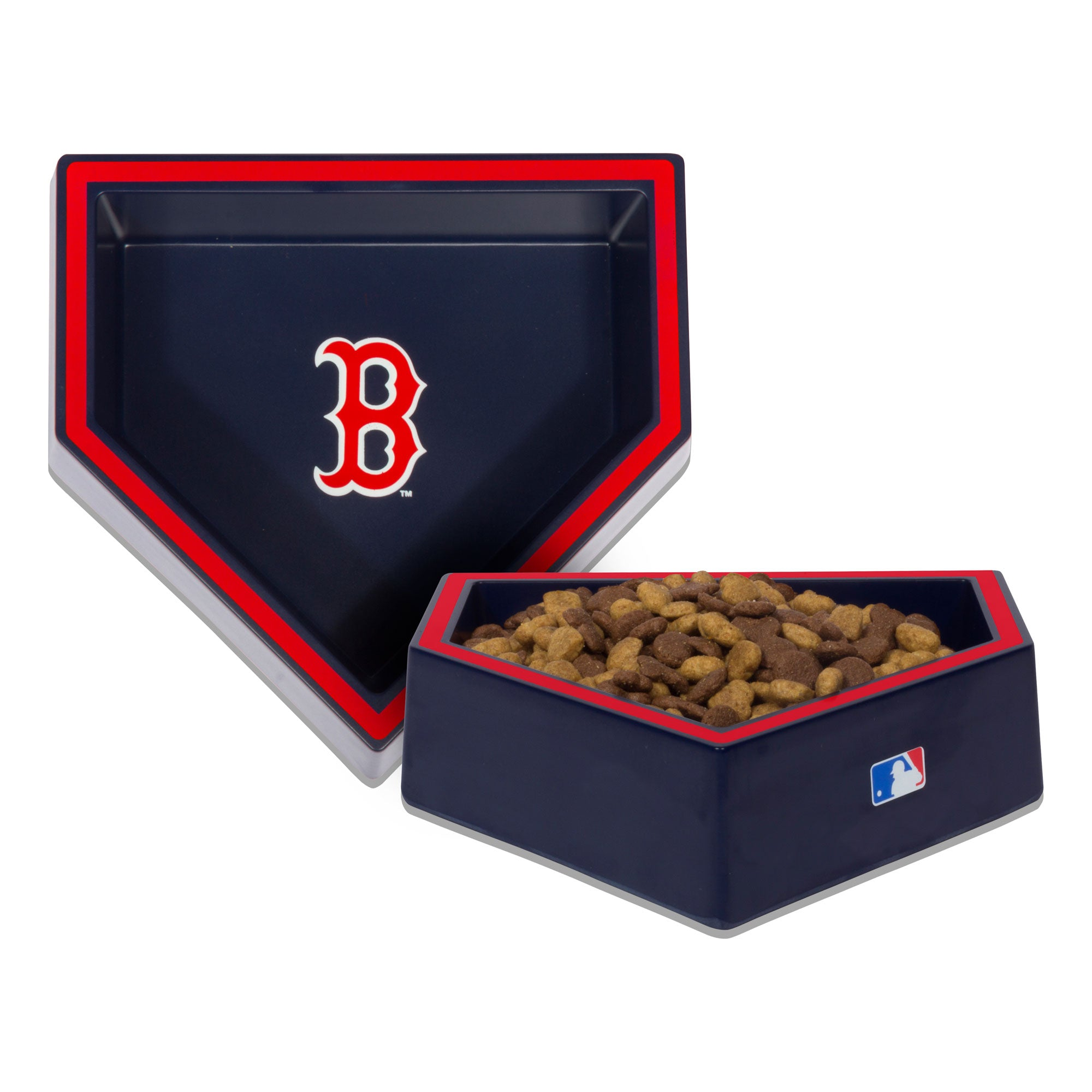MLB BOWL-RED SOX-HOME PLATE BOWL-BLUE/RED