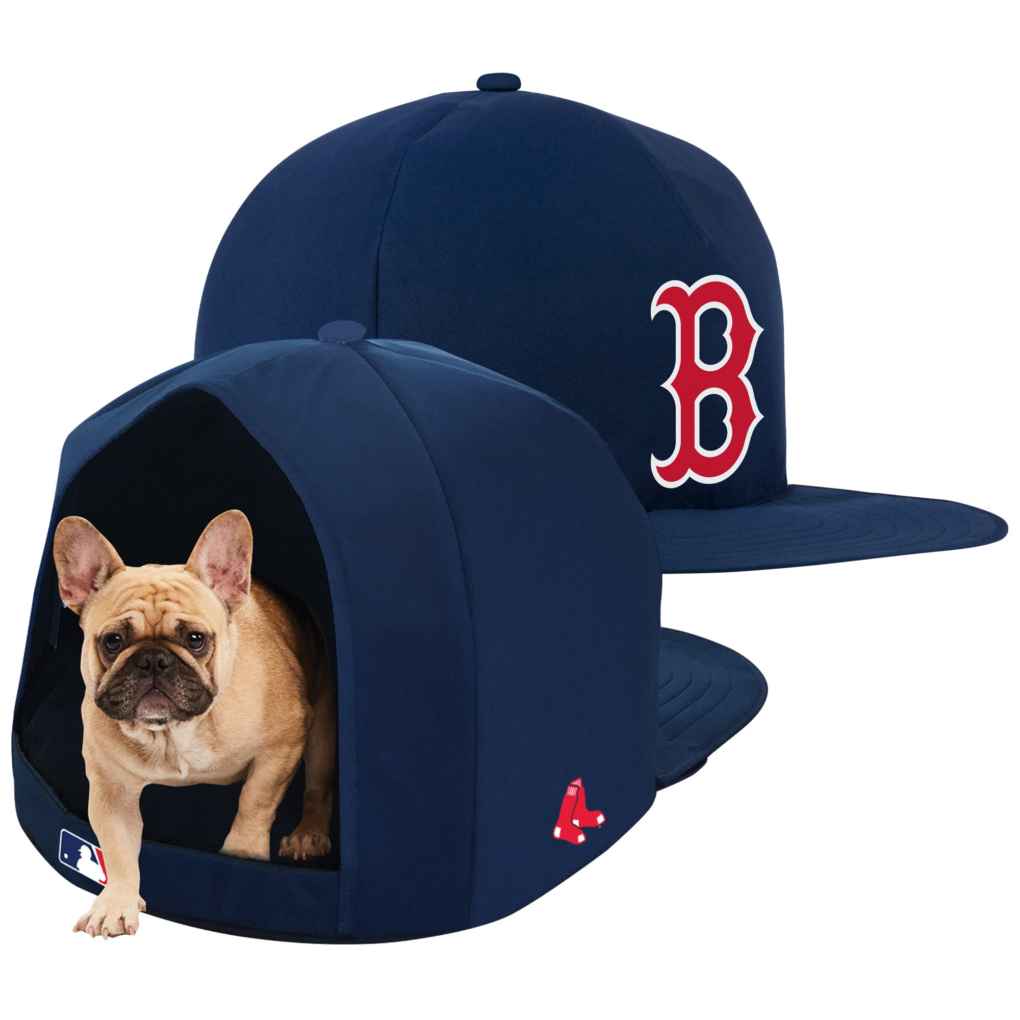 Boston Red Sox Nap Cap Plush Dog Bed