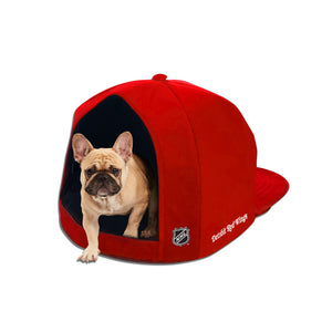 Detroit Red Wings Nap Cap Plush Dog Bed