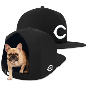 Cincinnati Reds Noir Nap Cap Plush Dog Bed