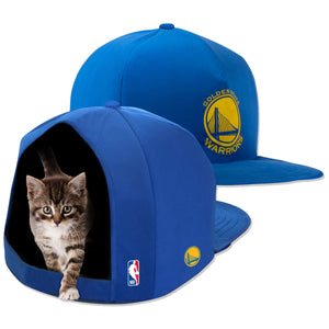 NBA PET BED-WARRIORS-PLUSH-BLUE/GOLD
