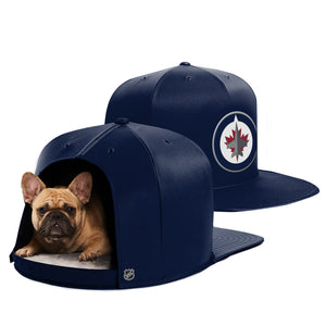 Winnipeg Jets Nap Cap Premium Dog Bed