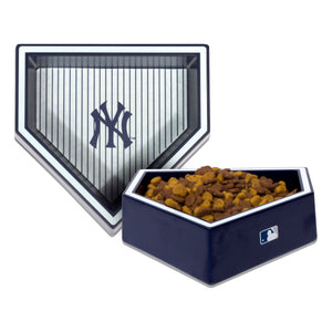 New York Yankees Home Plate Dog Bowl