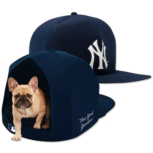 NY Yankees Nap Cap Plush Dog Bed
