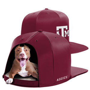 Texas A&M University Nap Cap Dog Bed
