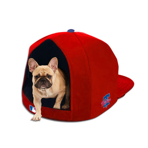 MLB PET BED-PHILLIES-PLUSH-RED/WHITE