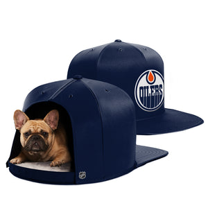 Edmonton Oilers Nap Cap Dog Bed