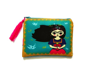 Chunchitos Frida Kahlo purse, bag, coin purse, zipper pouch