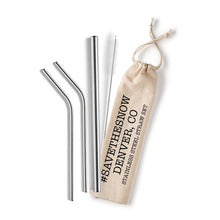 Shell Creek Sellers Reusable Stainless Steel Straw Sets #Savethesnow Denver Colorado