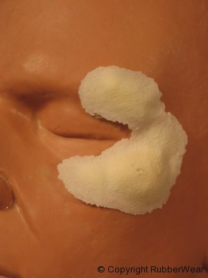Rubber Wear Swollen Cheek (Left)