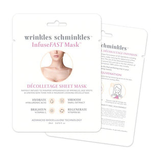 Wrinkles Schminkles InfuseFAST Decolletage Sheet Mask