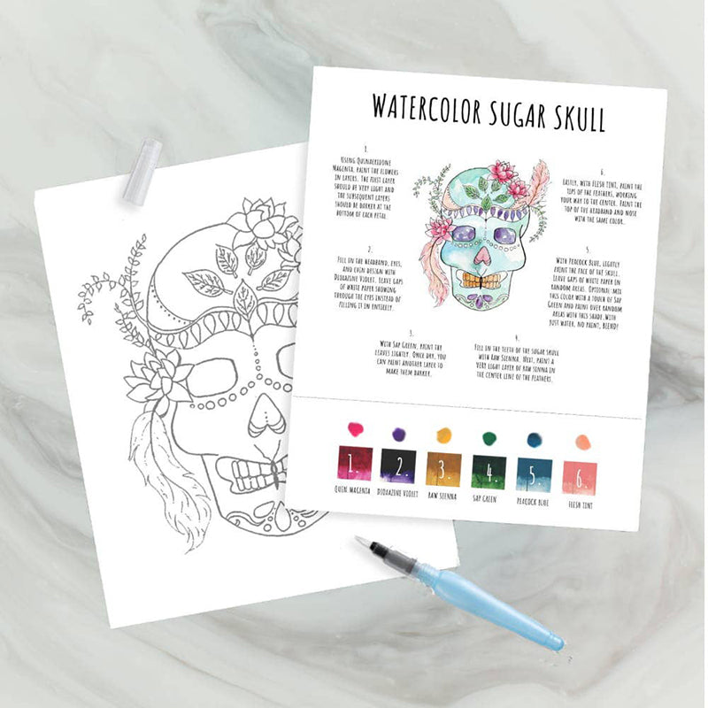 Maya X Kiwi Sugar Skull DIY Watercolor Kit