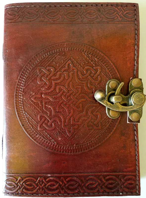 Celtic Knot Leather blank book with latch