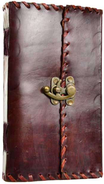 1842 Poetry leather blank book with latch