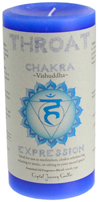 "Throat Chakra Pillar Candle 3""x6"""