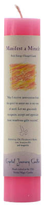 Manifest a Miracle Reiki Charged Candle