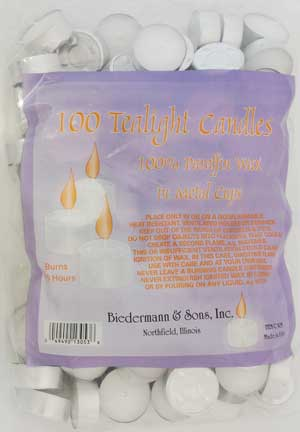 Tealight Candles (100/pack)