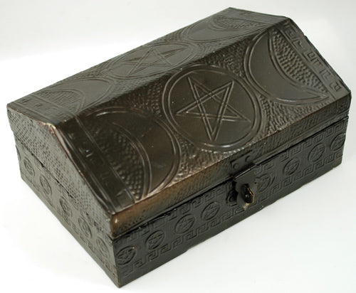 "Triple Moon Pentagram Box 4""x6"""
