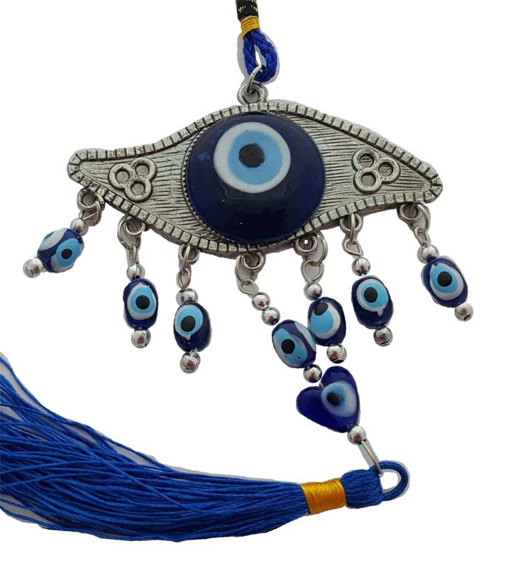 Evil Eye with Tassel Wall Hanging