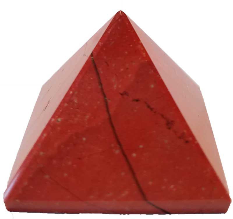 Red Jasper Pyramid 25-30mm