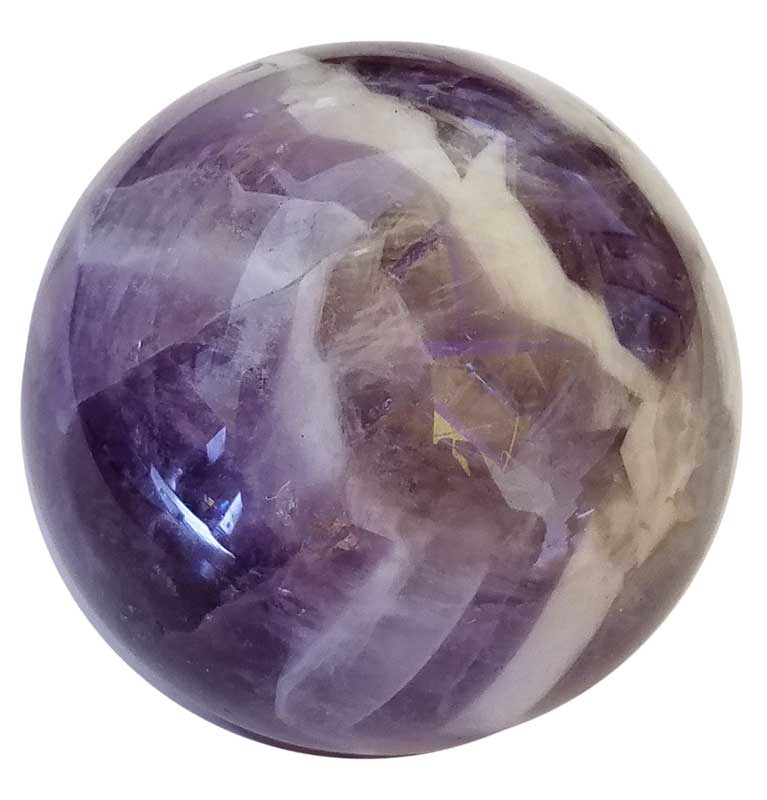 Amethyst Cheveron Sphere (40mm)