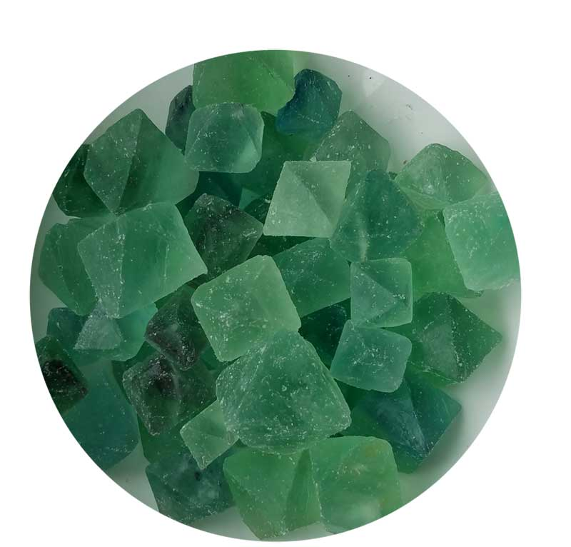 1lb Flourite Green Octahedral