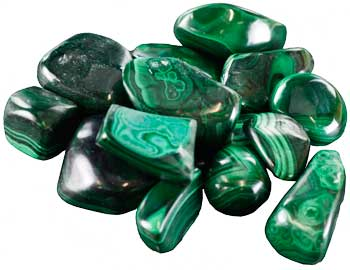 1lb Malachite Tumbled Stones