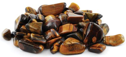 1lb Tiger Eye Tumbled Stones