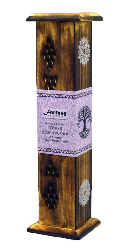 Fantasy Scents Wooden Incense Tower 12""