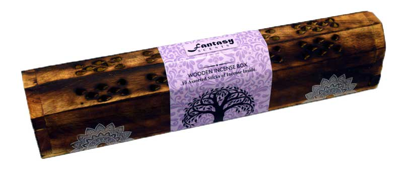 Fantasy Scents Wood Incense Boat Burner 12""