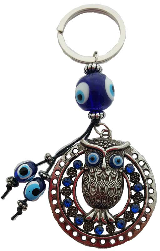 Owl Evil Eye Key Chain
