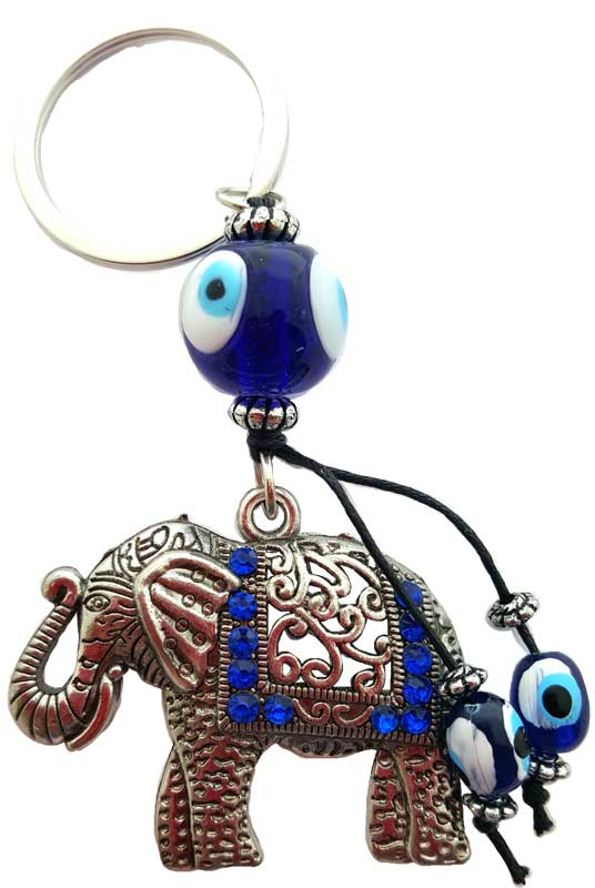 Elephant Evil-Eye-Key-Chain