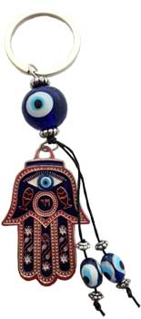 Hand Evil Eye Key Chain