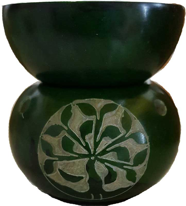 Green Soapstone Tree of Life Oil Diffuser