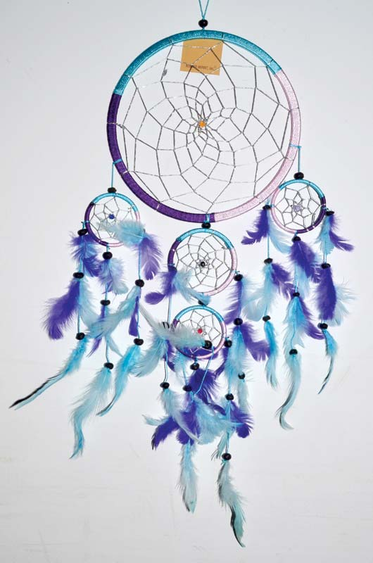 "8 1/2"" 5 Rings Multi Dream Catcher"