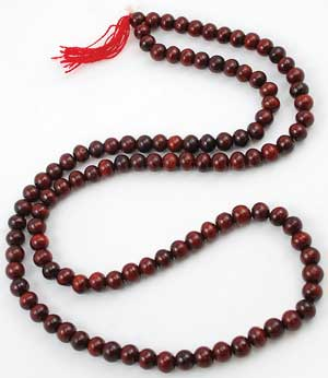 Red Sandalwood Prayer Mala 7mm