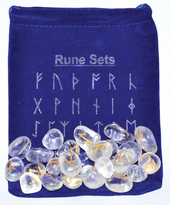 Clear Quartz Rune Set