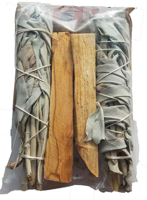 "4"" Combo Pack - White Sage & Palo Santo"