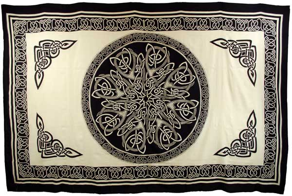 "Ancient Celtic Knot Tapestry 72""x108"""