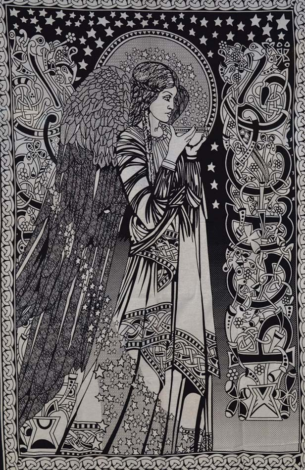 "Peace Angel Black & White (54""x86"""