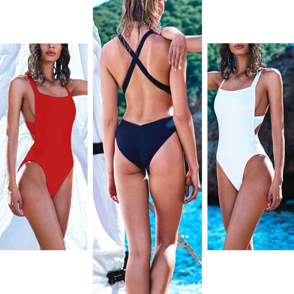 Criss Cross V Bottom One Piece Swimsuit - Fierce and Free