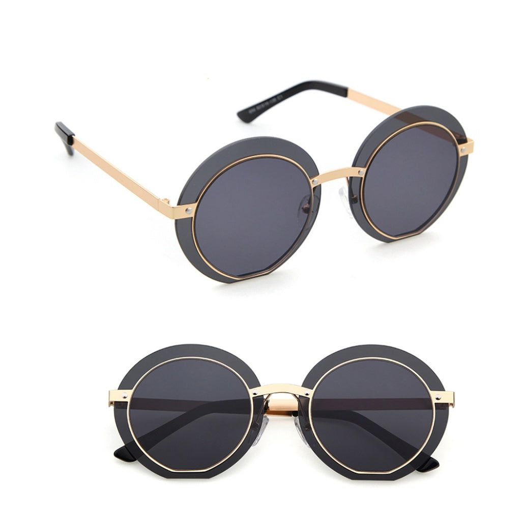 Round Rimless Sunglasses - Fierce and Free