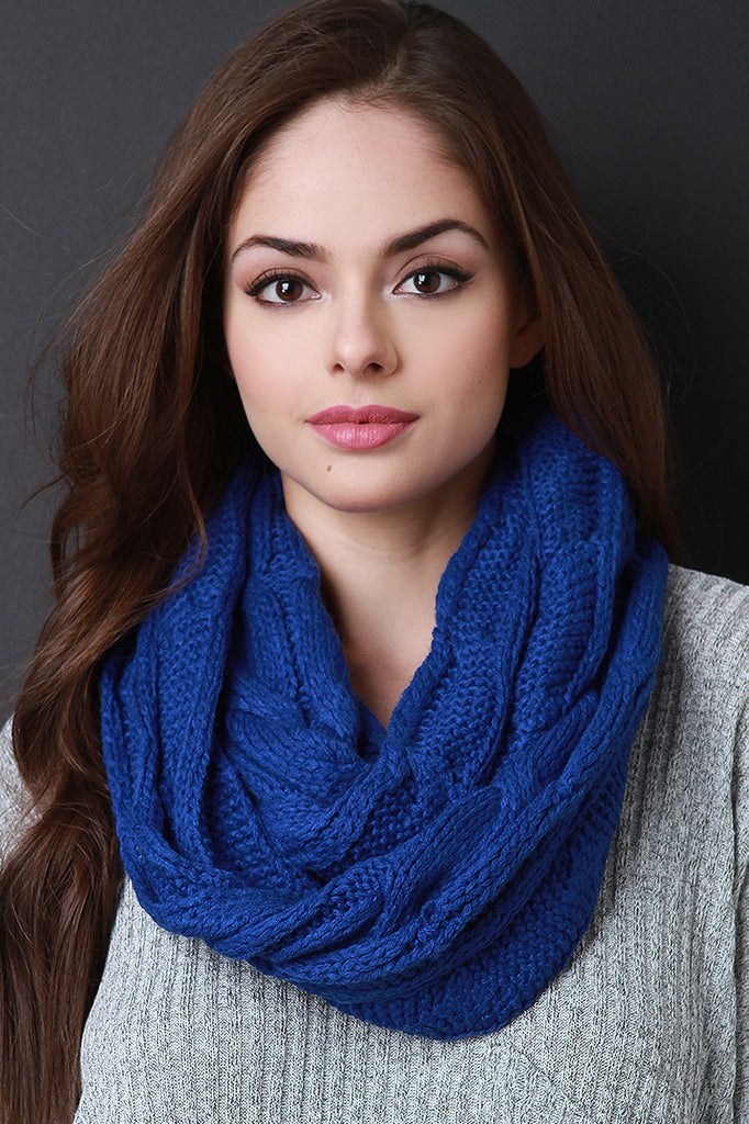 Interwoven Crochet Infinity Scarf- 6 colors - Fierce and Free