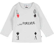 Baby Long Sleeve T-shirt, Natural, Love Forever