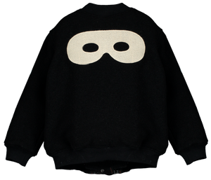 Bomber Wool Jacket, Black, Hero Mask