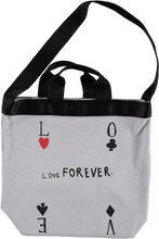 Canvas Bag, Quiet Grey, Love Forever